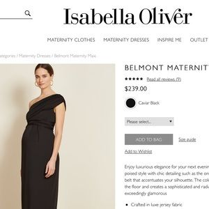 Isabella Oliver little black dress maternity